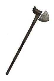 foto of zulu  - A vintage African war axe from the Zulu tribes - JPG