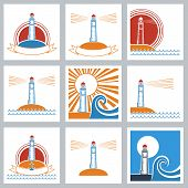 Lighthouse Colors Icons.