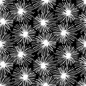 Pattern with snowflakes or pompoms