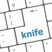 Knife Word Word On Computer Keyboard Keys