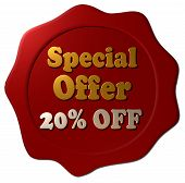Special Offer 20% Discount (Red seal)