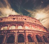 stock photo of grandstand  - Colosseum in Rome - JPG