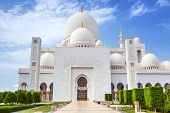 Sheikh Zayed Grand Mosque in Abu Dhabi, the capital city of United Arab Emirates