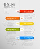 Vector Infographic timeline report template with icons and rounded labels