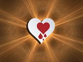 picture of heartbreak  - Heartbleed bug feelings blood donation and heart health - JPG