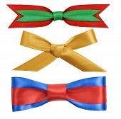 ribbon bow on white background