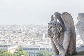 pic of gargoyles  - Gargoyle at Notre Dame of Paris France  - JPG