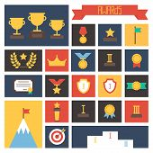 stock photo of prize winner  - Award icons - JPG