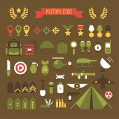 foto of army  - Military and war icons set - JPG