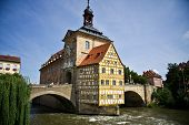 foto of regnitz  - City Hall of Bamberg on river - JPG