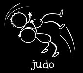 image of judo  - Illustration of two stickmen playing judo - JPG