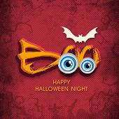 picture of vampire bat  - Stylish Halloween night poster with vampire - JPG
