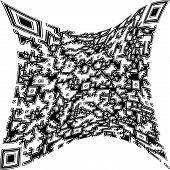 picture of deformed  - Illustration Black deformed QR code on a white background - JPG