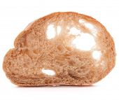 pic of fresh slice bread  - Slice of fresh ciabatta bread isolated on white background cutout - JPG
