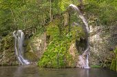 foto of swabian  - The Gueterstein waterfall near Bad Urach in the Swabian Alps, Germany.