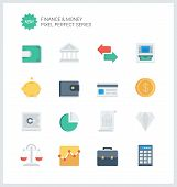 foto of coin bank  - Pixel perfect flat icons set of finance objects and banking elements financial items and money symbol - JPG