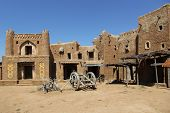 stock photo of mongol  - settlement since the Golden Horde with clay buildings - JPG