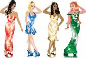 picture of pageant  - Formal Gown Women can be used for Weddings Beauty Pageants Parties Christmas Valentines Day St - JPG