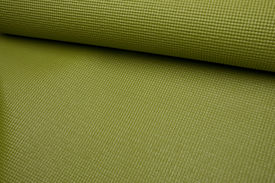picture of yoga mat  - Green Yoga Exercise Mat Partially Rolled - JPG