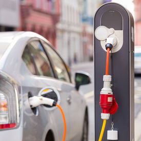 pic of electric station  - Power supply for electric car charging - JPG
