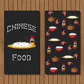 stock photo of chinese menu  - Template for booklet - JPG