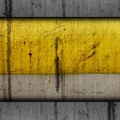 pic of dripping  - background paint yellow texture grunge old metal iron dirty rust grungy drip pattern aged - JPG