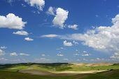 image of arid  - Arid landscape in Zaragoza province - JPG