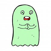 pic of funny ghost  - funny retro comic book style cartoon ghost - JPG