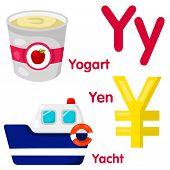 image of yen  - Illustrator of Y alphabet with yogart - JPG