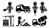 picture of construction industry  - isolated building and industrial icon set for construction industry - JPG
