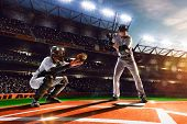 pic of ball cap  - Professional baseball players on the grand arena - JPG