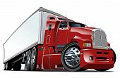picture of big-rig  - Cartoon semi truck - JPG