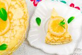 foto of curd  - blinis pie with the lemon curd - JPG