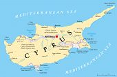 pic of larnaca  - Cyprus Political Map with capital Nicosia - JPG