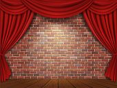 pic of curtains stage  - Red curtains - JPG