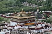 image of buddhist  - View of the Buddhist monastery Samye Tibet China - JPG