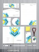 stock photo of letterhead  - Creative stylish business corporate identity set includes CD Cover - JPG