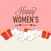 picture of special day  - Elegant greeting card design for International Women - JPG
