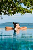 stock photo of relaxing  - Relax and spa concept - JPG