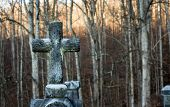 image of graveyard  - Graveyard at a church in the tennessee  - JPG