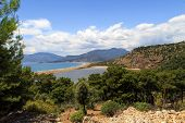 picture of dalyan  - View of connection point of salty and fresh water in Iztuzu Beach in Dalyan - JPG