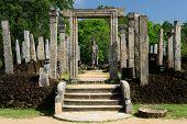 stock photo of vihara  - Polonnaruwa ruin was the second capital of Sri Lanka after the destruction of Polonnaruwa - JPG