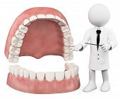 picture of denture  - 3d white people - JPG