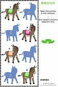 foto of donkey  - Visual puzzle - JPG