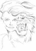 picture of tigress  - The woman - JPG