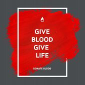 foto of blood  - Creative Donate blood motivation information donor poster - JPG