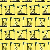 stock photo of rig  - Oil rig seamless pattern - JPG