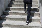 foto of thighs  - Coming up stairs is good exercise for thighs - JPG