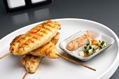 Постер, плакат: Grilled Chicken Satay Skewers