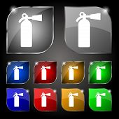 picture of fire extinguishers  - fire extinguisher icon sign - JPG